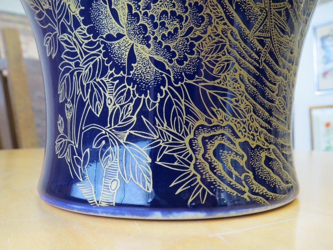 A Chinese Cobalt Glazed Vase. - 6