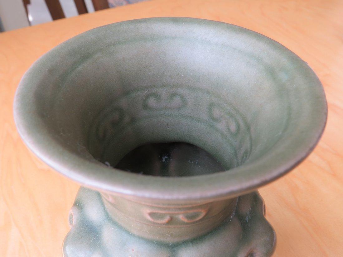 A Chinese Celadon Glazed Censer. - 3
