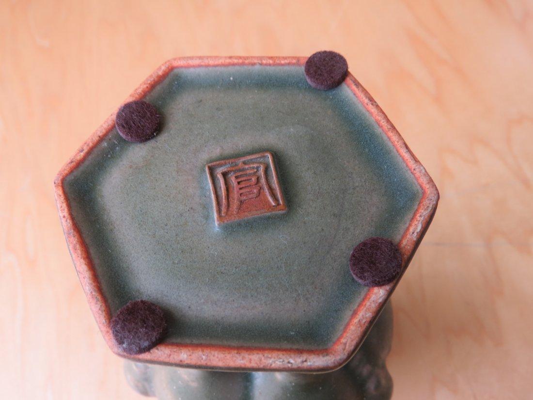 A Chinese Celadon Glazed Censer. - 7