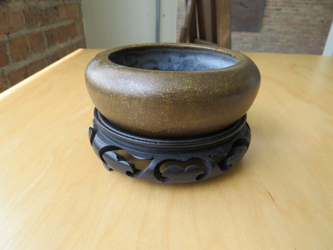 A Chinese Patinated Bronze Censer. - 2