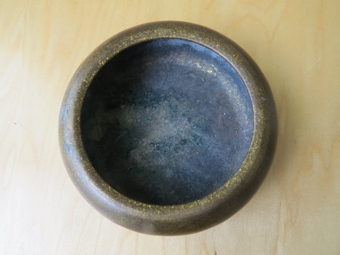 A Chinese Patinated Bronze Censer. - 3