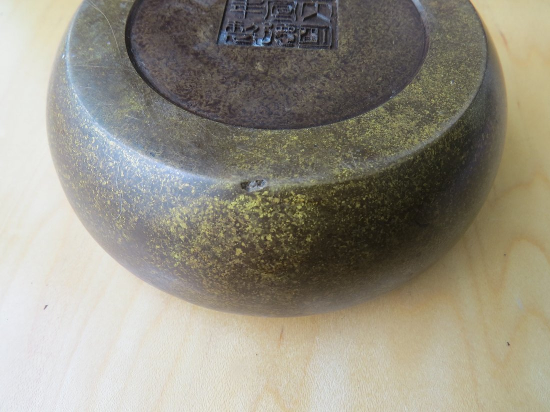A Chinese Patinated Bronze Censer. - 5
