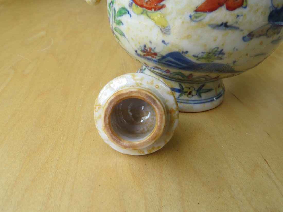 Two Chinese Doucai Glazed Porcelain Vessels. - 4