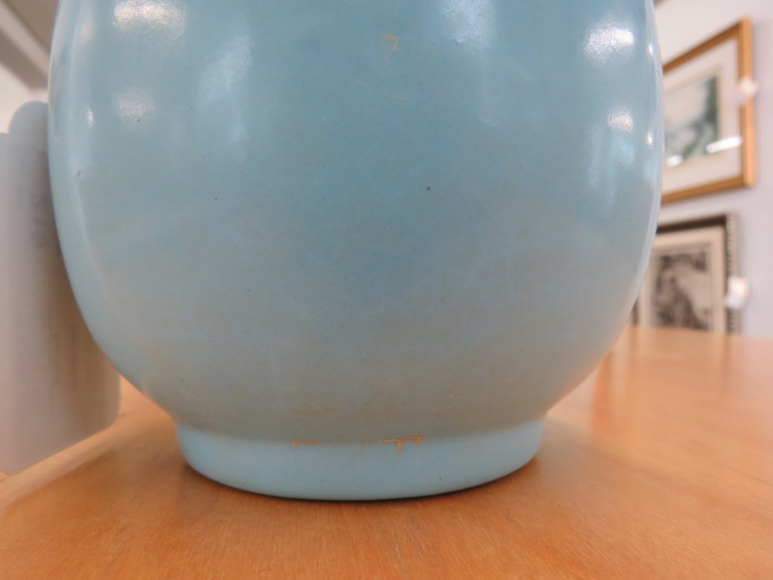 Two Chinese Clair de Lune Glazed Porcelain Vases. - 5
