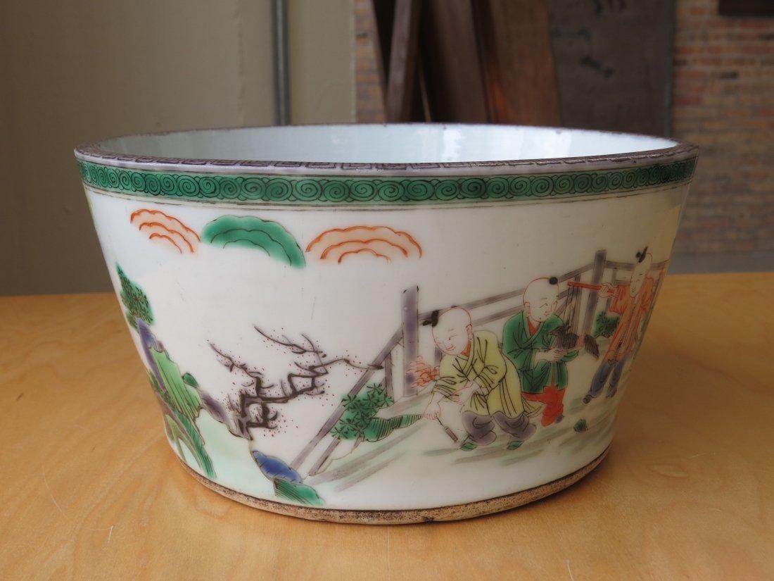 A Chinese Famille Verte Porcelain Bowl. - 2