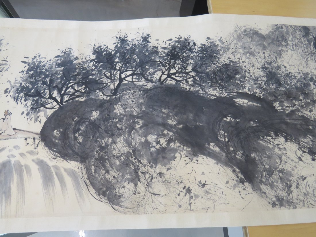 A Chinese Hanging Scroll. - 9