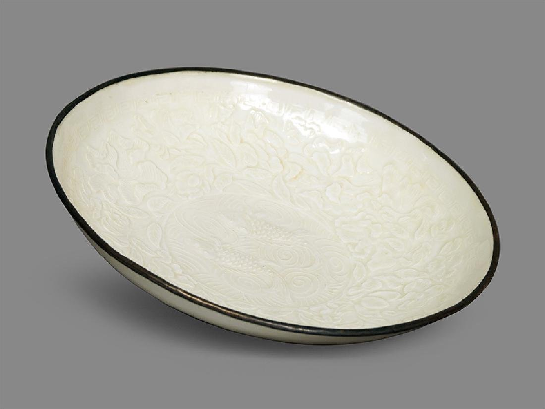 A Chinese Ding Ware Porcelain Bowl.