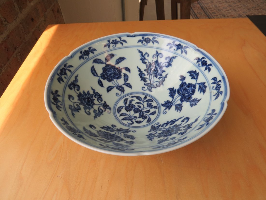 A Chinese Blue and White Porcelain Conical Bowl. - 2