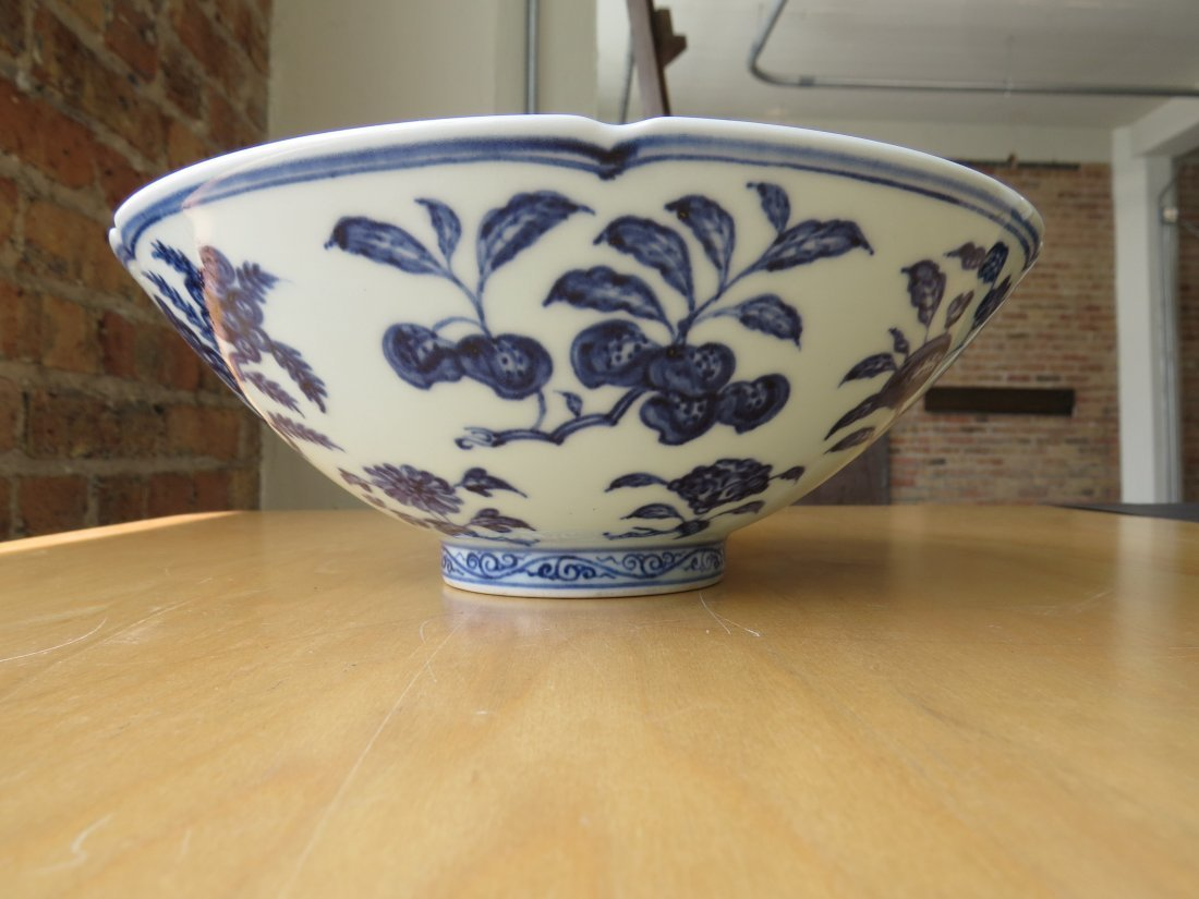 A Chinese Blue and White Porcelain Conical Bowl. - 3