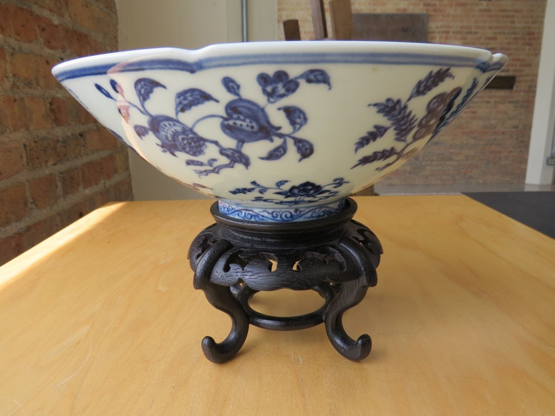 A Chinese Blue and White Porcelain Conical Bowl. - 5