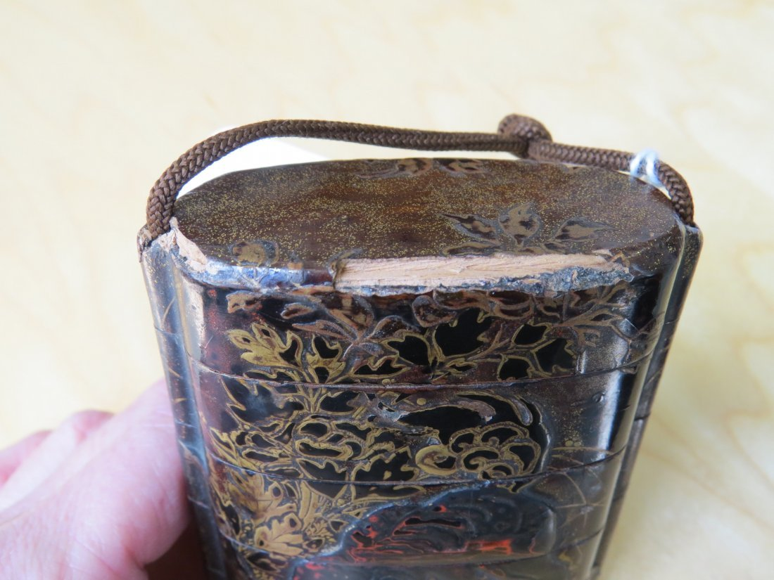 Two Japanese Gilt and Black Lacquered Inro. - 5