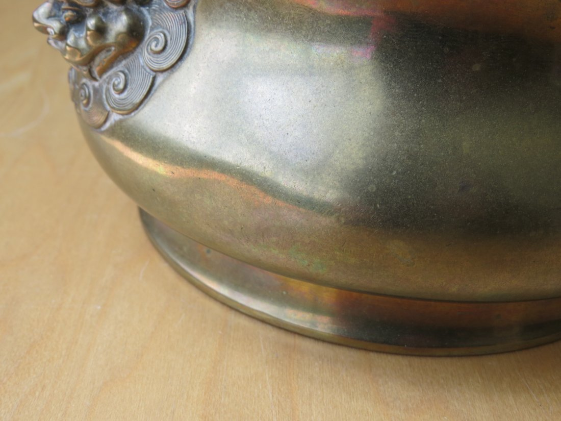 A Chinese Brass Censer and Stand. - 6