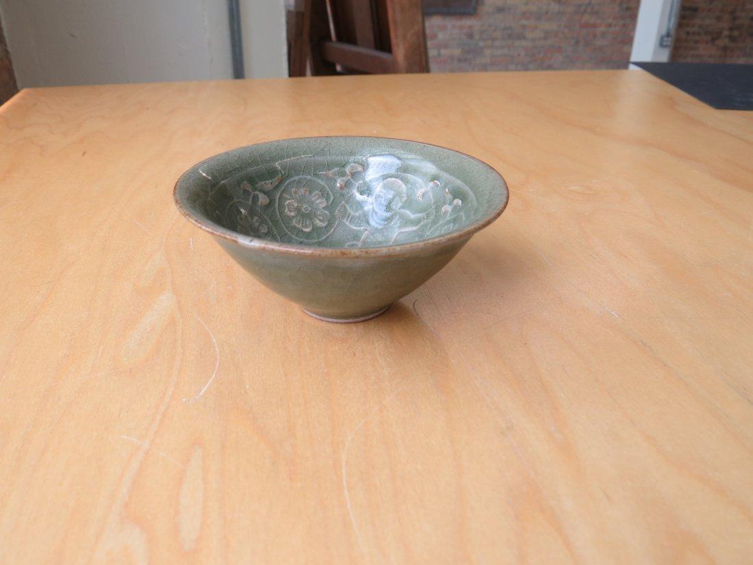 A Celadon Glazed Conical Bowl. - 2