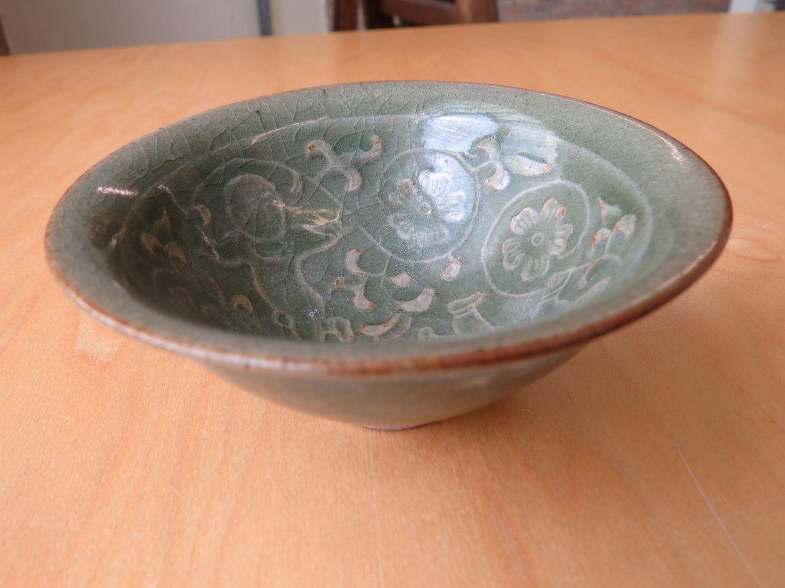 A Celadon Glazed Conical Bowl. - 5
