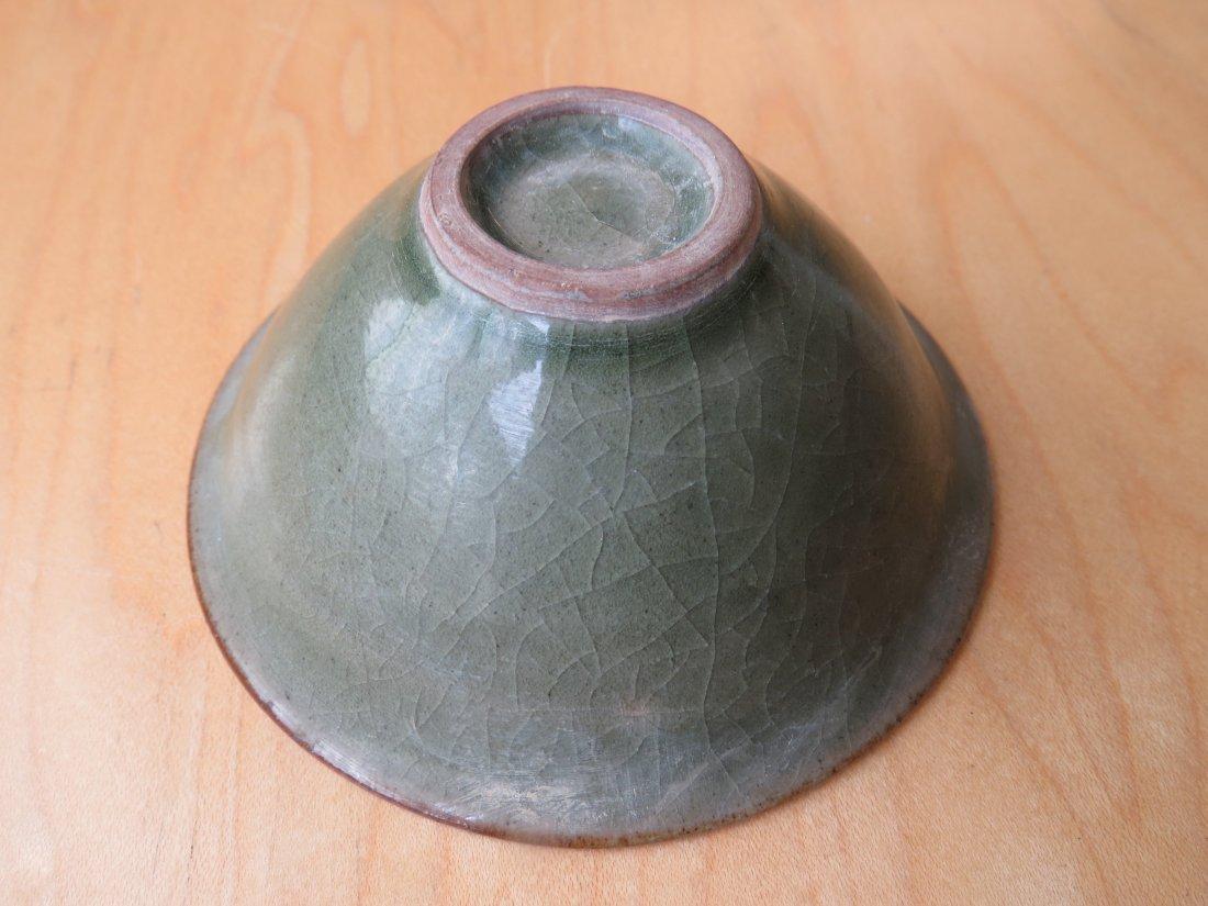 A Celadon Glazed Conical Bowl. - 6
