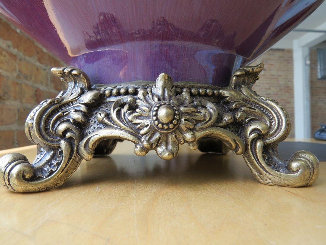 A Chinese Ormolu Mounted Flambe Glazed Vase. - 8
