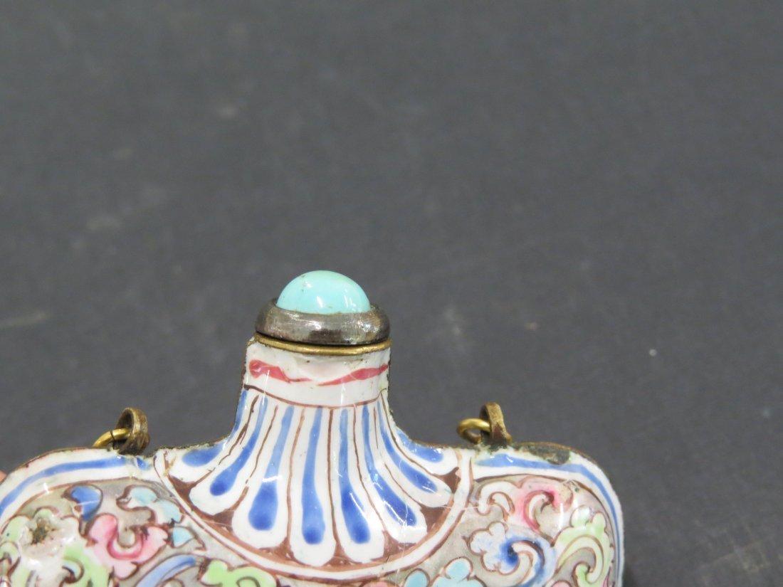 A Chinese Enamel Flask Snuff Bottle. - 10