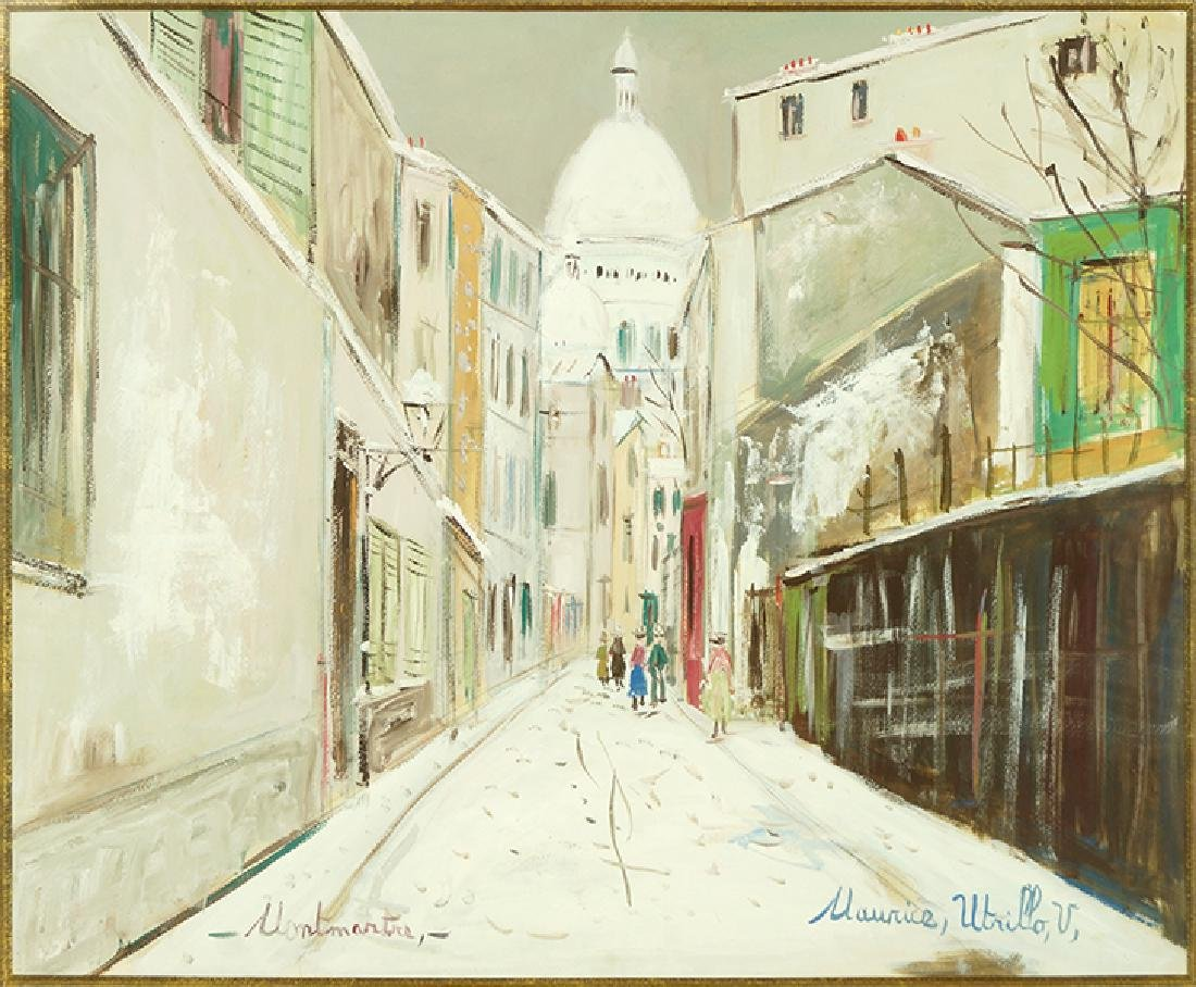 Maurice Utrillo (French, 1883-1955) Rue de Mont-Cenis a