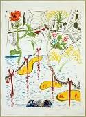 Salvador Dali (Spanish, 1904-1989) Biological Garden.