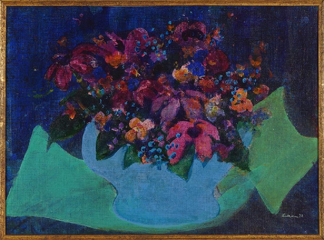 Gustav Likan (Yugoslavian, 1912-1998) Flowers.