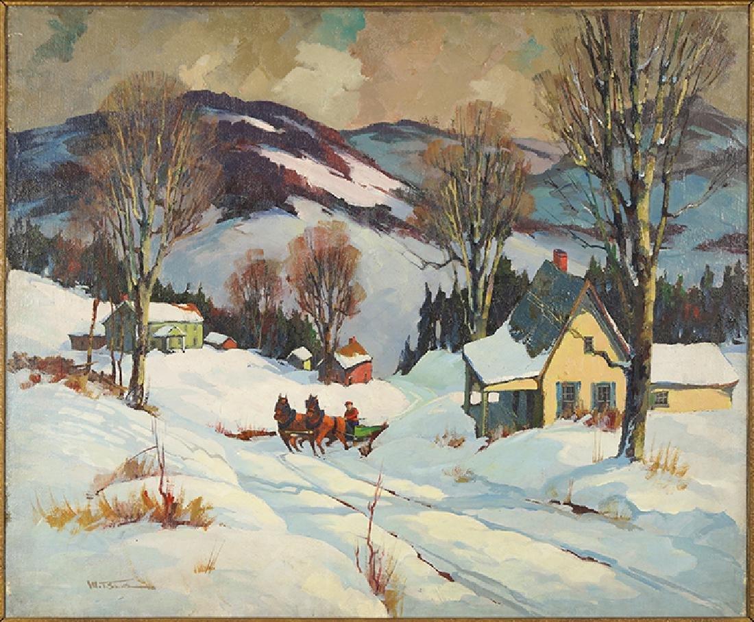 Walter Thomas Sacks (American, 1901-1961) Winter Scene