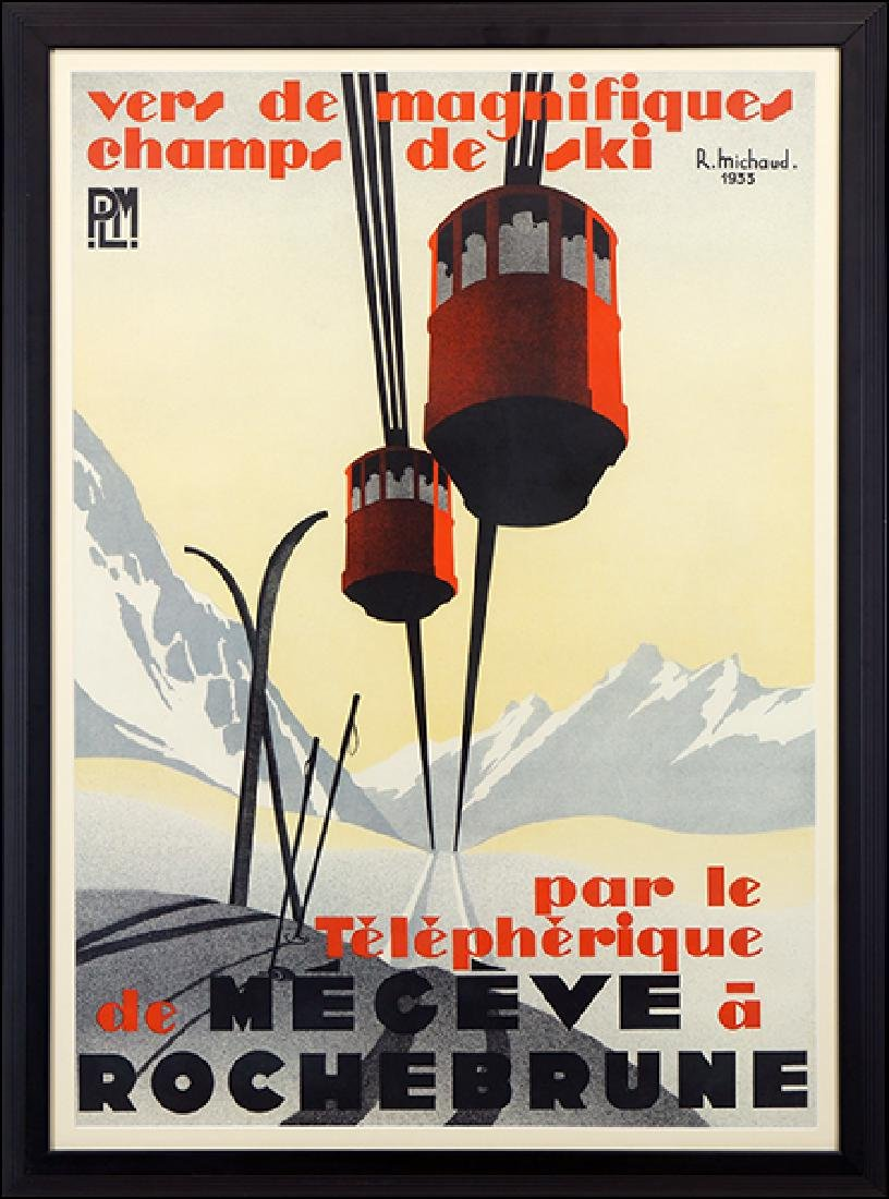 Rene Michaud (Swiss, 20th Century) Megeve a Rochebrune.