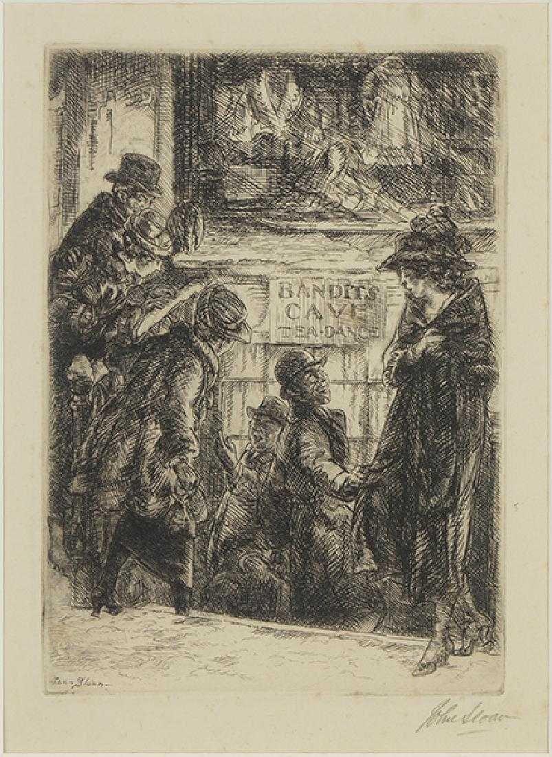 John Sloan (American, 1871-1951) Bandit's Cave.