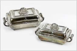 A Pair of Matthew Boulton English Silverplate Entree
