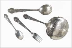 A Tiffany  Company Sterling Silver Partial Flatware
