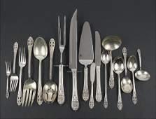 A Fine Arts Sterling Silver Flatware Service.
