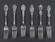 An Unger Brothers Art Nouveau Sterling Silver Fork