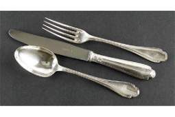 A Christofle Silverplate Flatware Service