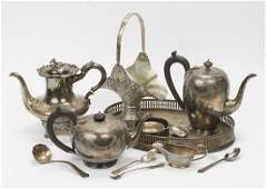 An English Silverplate Teapot and Coffee Pot