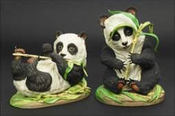 Two Boehm Porcelain Giant Panda Cubs