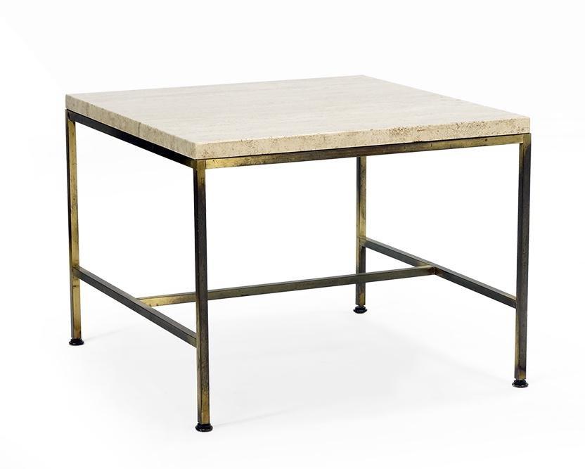 A Paul McCobb Travertine Table.