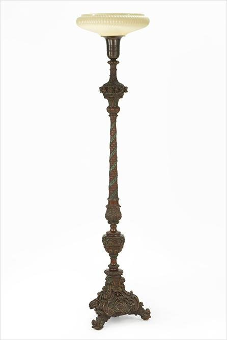 An Italian Carved Wood Torchiere.