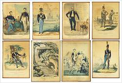A Collection of 19th Century American Military Prints