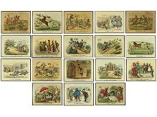 Currier  Ives American 19th Century Nineteen Prints
