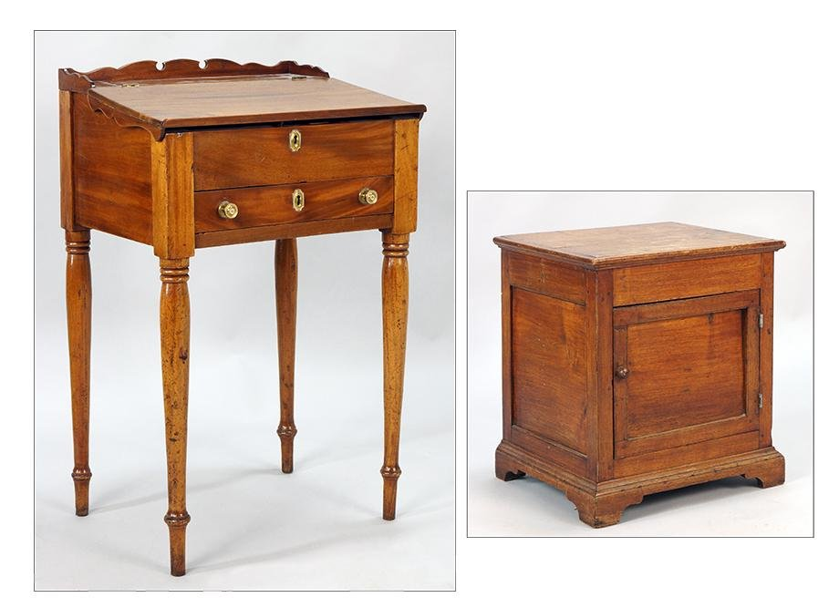 A 19th Century Maple Lady's Writing Desk.
