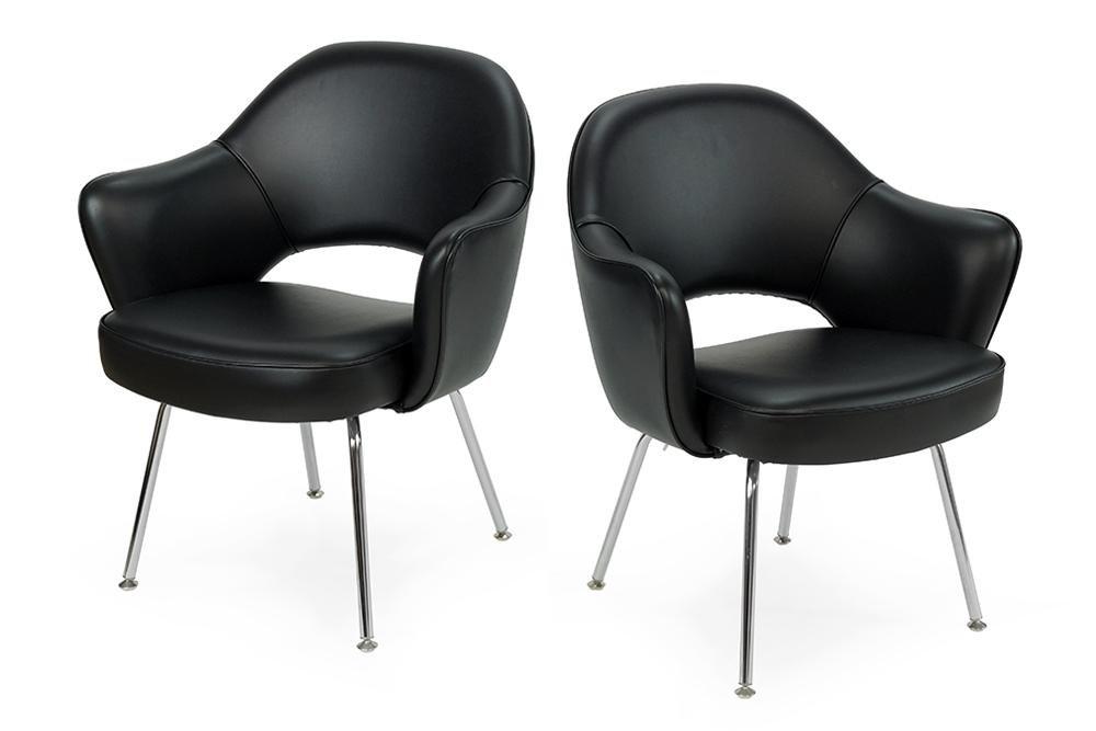 A Set of Four Knoll Saarinen Executive Chairs.