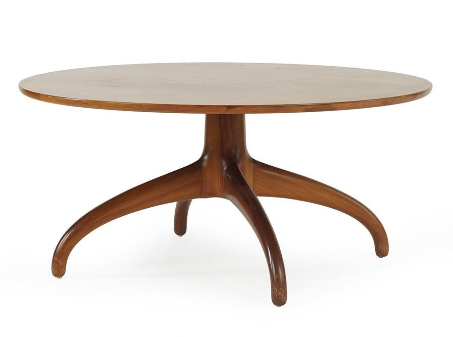 A Heritage Henredon Walnut Cocktail Table.
