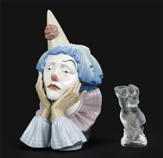 A Lalique Figure of Pan and Diana.