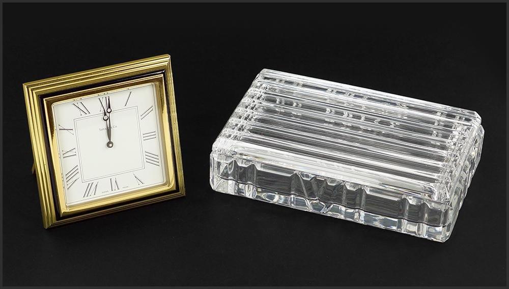 A Tiffany & Company Crystal 'Atlas' Box.