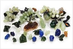 A Collection of Semi-Precious Stone Decorative Items.