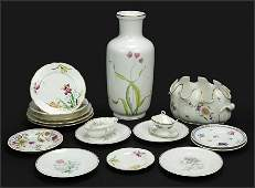 A Collection of Richard Ginori Porcelain Table