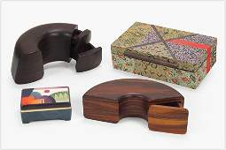 Two Wooden Jewelry Boxes.