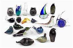 A Collection Of Nineteen Decorative Glass Figures