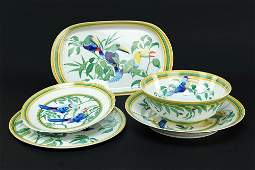 A Collection of Hermes Porcelain Serving Pieces