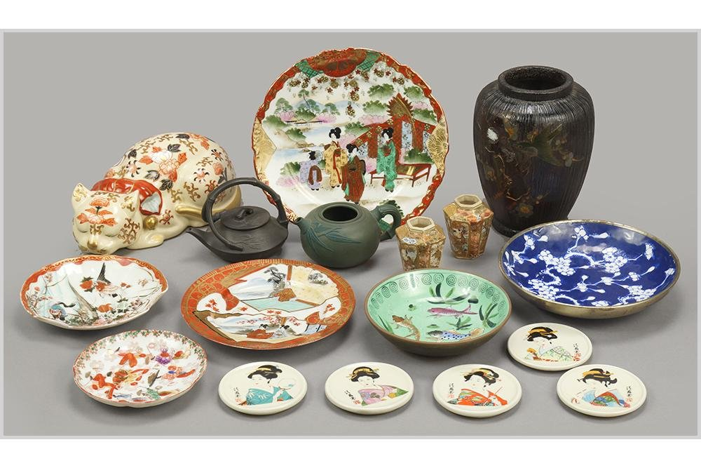 A Collection of Japanese Porcelain Decorative Items.