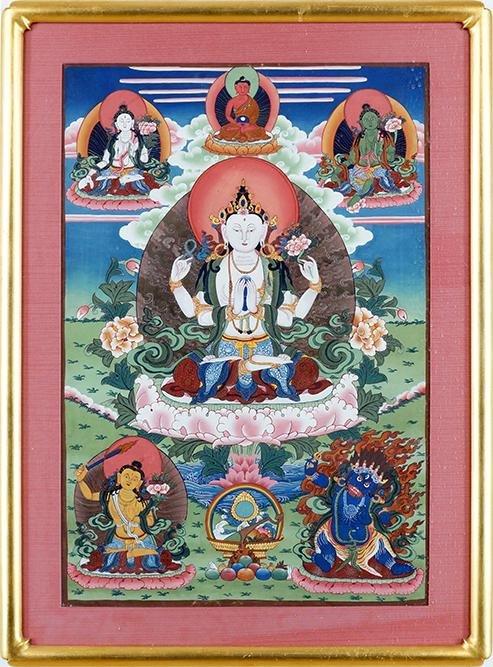 A Tibetan Thangka.